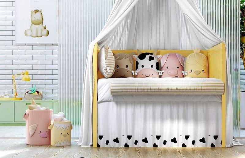 temas para quartos de bebê fazenda