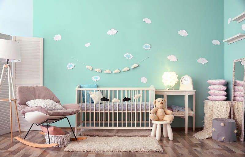 temas para quartos de bebê nuvens