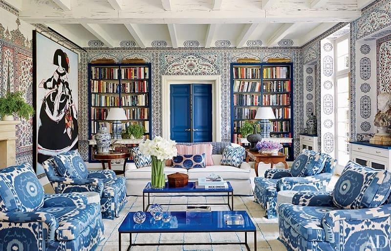 decoração maximalista clássica e vintage