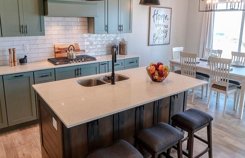 cozinha com ilha fruteira